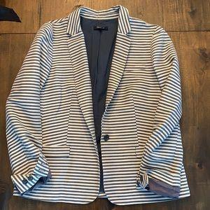 Madewell cotton striped blazer